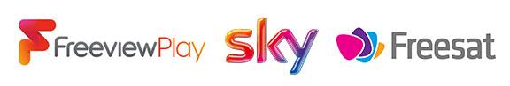 Freeview Freesat Sky logos